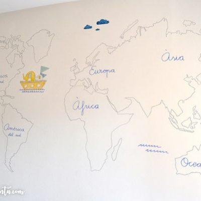 Murales infantiles pintados a mano 100% personalizados de La que pinta en Barcelona.